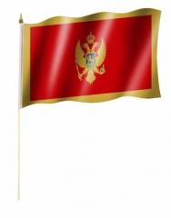 Montenegro Stockfahnen
