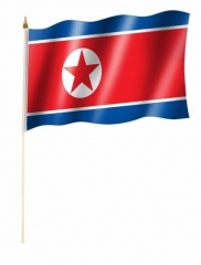 Nordkorea Stockfahnen