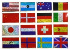 Aufkleber 16 Flags