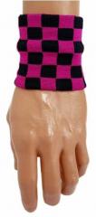 Schweißband Schachmuster Pink