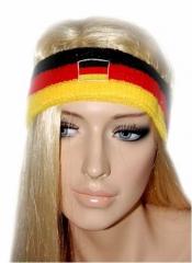 Schweißband Stirn Deutschland Flagge