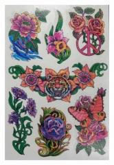 Temporäres Tattoo Blumen