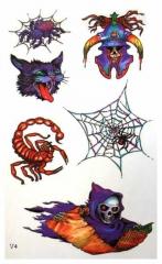 Temporäres Tattoo Spinnen