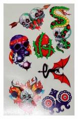 Temporäres Tattoo Totenköpfe