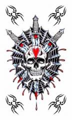 Temporäres Tattoo Totenkopf