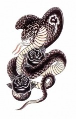 Temporäres Tattoo Kobra