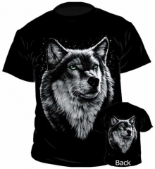 T-Shirt Wolf & Red Indian