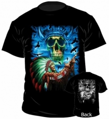 T-Shirt Red Indian & Skull