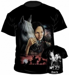T-Shirt Squaw With Horse