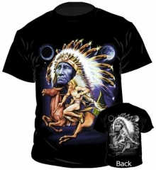 T-Shirt Red Indian Rider