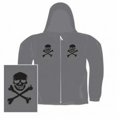 Gothic Kapuzensweatshirt - Skulls