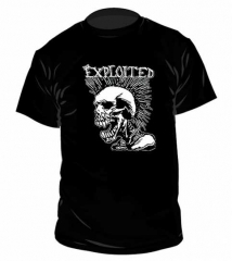 The Exploited Mohican Skull T Shirt