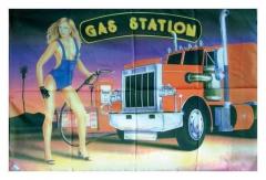 Posterfahne Gas Station