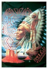 Posterfahne Red Indian