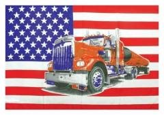 Posterfahne Usa & Truck