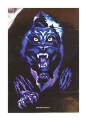 Posterfahne Blauer Panther